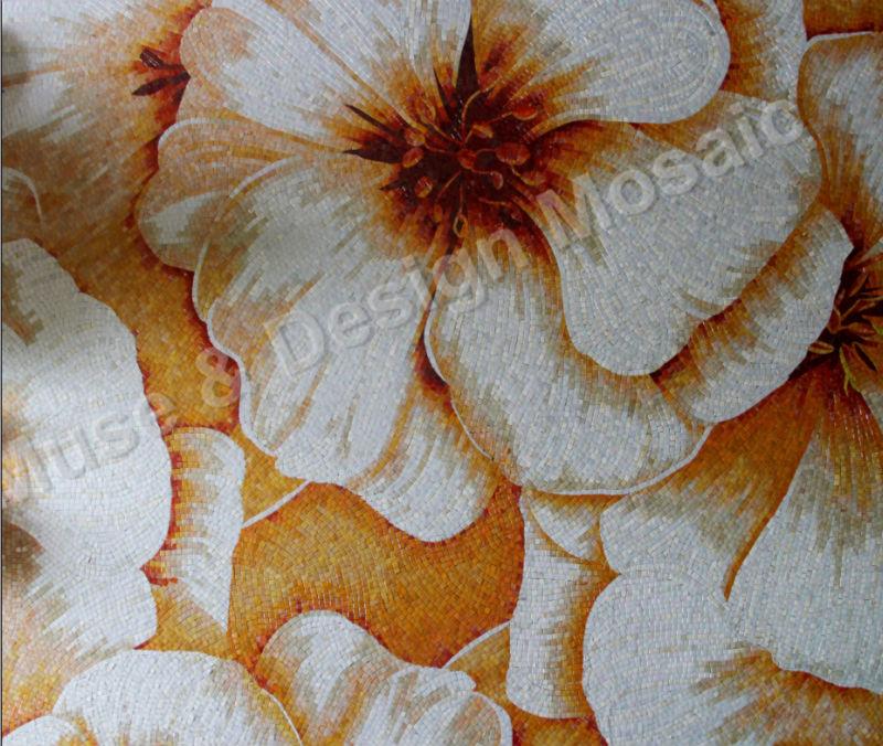 [해외]럭셔리 사용자 정의 벽화 모자이크 벽 흰색 꽃 전원 욕실 쇼 룸 호텔 홀 거실 파티션 벽 천장 타일/Luxury Custom Mural Mosaic Wall White Flower Power bathroom showroom hotel hall living roo