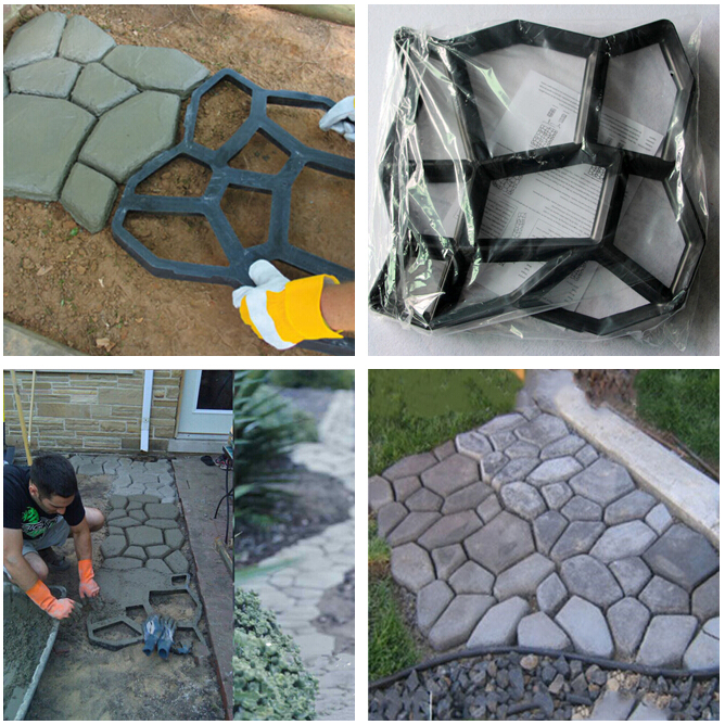 [해외]진입로 포장 마차 벽돌 안뜰 콘크리트 슬라브 경로 길가 Garden Walk Maker Mold/Driveway Paving Brick Patio Concrete Slabs Path Pathmate Garden Walk Maker Mould