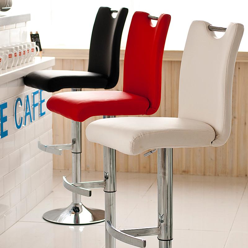 [해외]유럽의 고품질 패션 PU leathe 바 의자 높은 발 의자 리프팅 의자 높이 조절 가능/European high quality  fashion PU leathe bar chair  high foot stool   lifting  chair  height adj