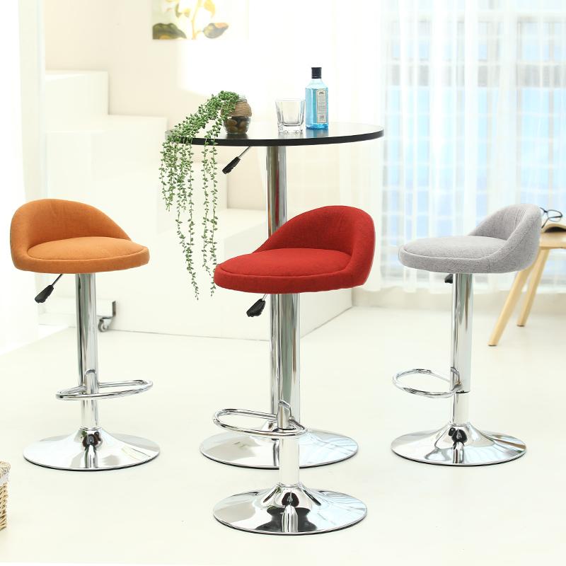 [해외]유럽 ??고품질 패션 패브릭 바 의자 바 의자 이발사 높은 의자 부드러운 편안한 높이 조절 가능/European  high quality fashion fabric bar  chair  bar stool barber high chair  soft comforta