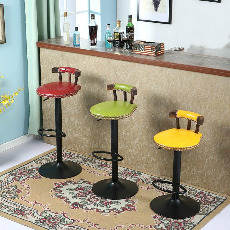 [해외]2pcs / lot 간단한 의자 책상 의자 유럽식 가정용 캐주얼 카페 바 슬라이딩 고품질 철근 회전 철분 철제 의자 바/2pcs/lot high quality  bar chair rotating metal iron lifting Europe type househ