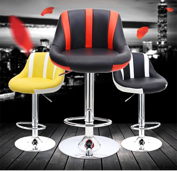 [해외]새로운 줄무늬 유럽 스타일 바 의자 바 하이 체어 단순 현금 뒤 의자/New Striped European Style Bar Stool  Bar Highchair Simple Cash Back Stool