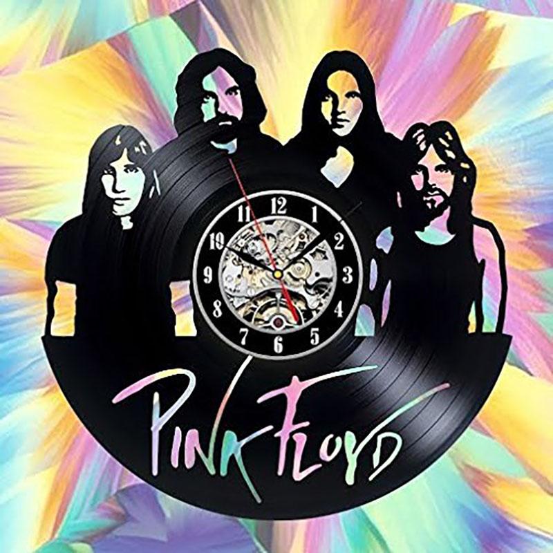 [해외]라운드 할로우 CD 레코드 벽 시계 핑크 플로이드 아트 비닐 패션 맞춤 된 객실 장식 수제 LED 레코드 빈티지 장식/Round Hollow CD Record Wall Clock Pink Floyd Art Vinyl Fashion Personalized Room