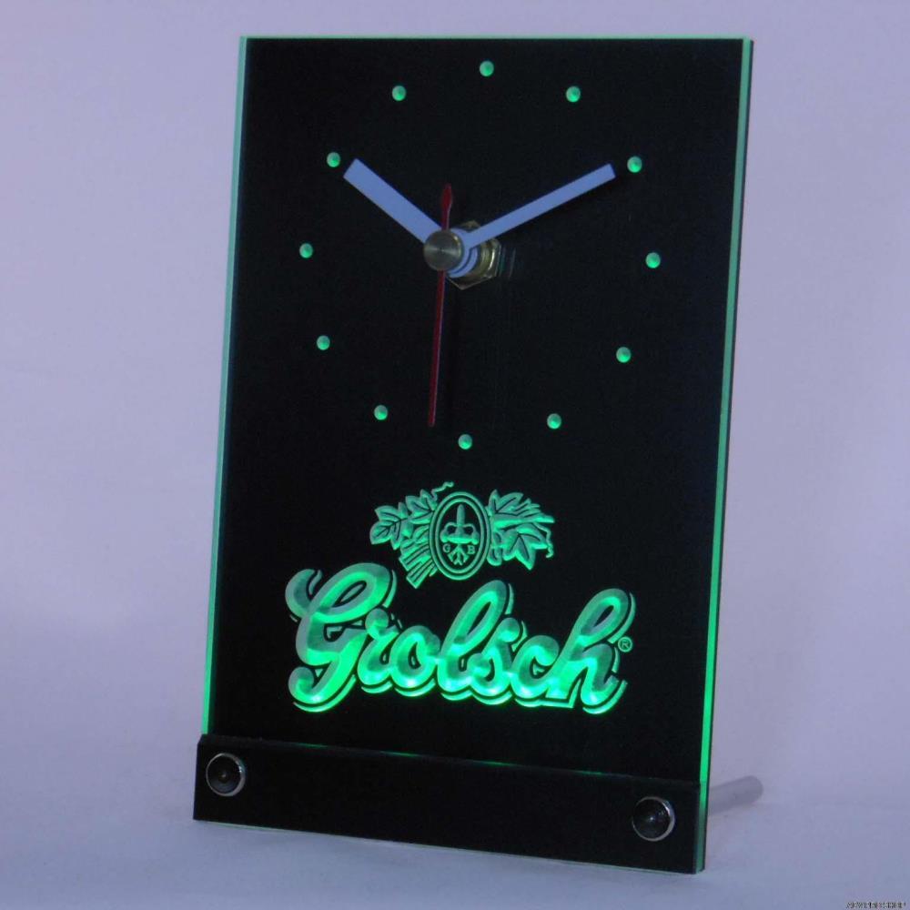 [해외]tnc0002 Grolsch 맥주 3D LED 탁상 시계/tnc0002 Grolsch Beer 3D LED Table Desk Clock