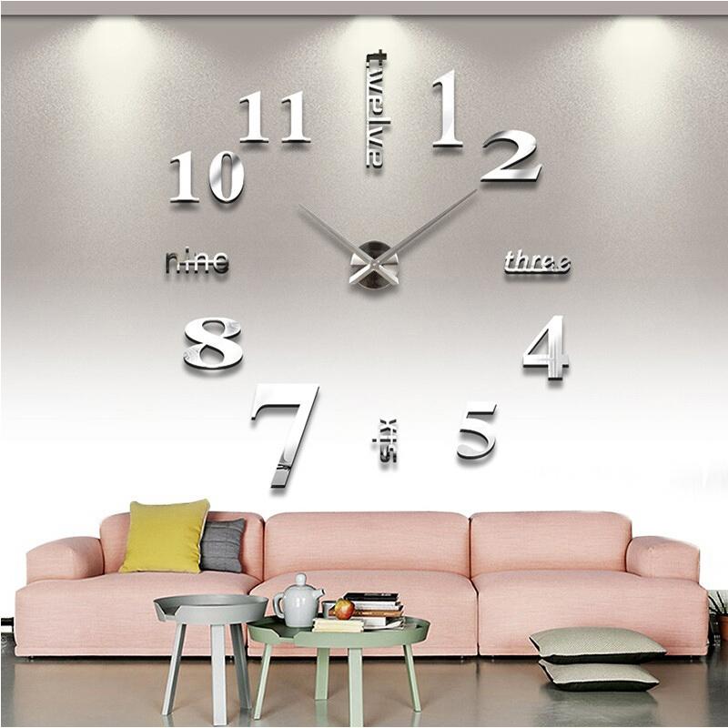 [해외]아랍어 맞춤형 디지털 시계 시계 DIY 벽 시계 아크릴 + EVR + 금속 거울 시계 horloge 벽화 murale/Arabic Personalized Digital Watches Clocks relogio de pared DIY Wall Clock Acryl