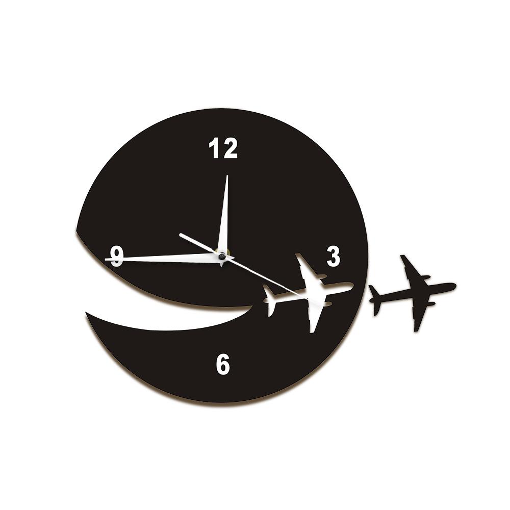 [해외]1 조각 내 비행기가 날아간 벽 시계 현대 디자인 플라잉 비행기 항공 벽 시계 계시기 비행기 탈출 시계 홈 장식/1Piece My Plane Flew Away Wall Clock Modern Design Flying Plane Airline Wall Watch