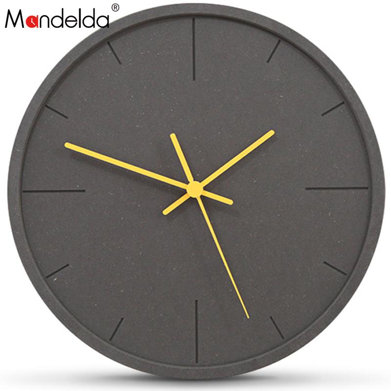 [해외]Mandelda 벽 시계 대형 장식 시계 현대 디자인 Horloge 벽화 디지털 자동 침묵 빈티지 Madera Para Casa/Mandelda Wall Watch Large Decorative Clocks Modern Design Horloge Mural Di