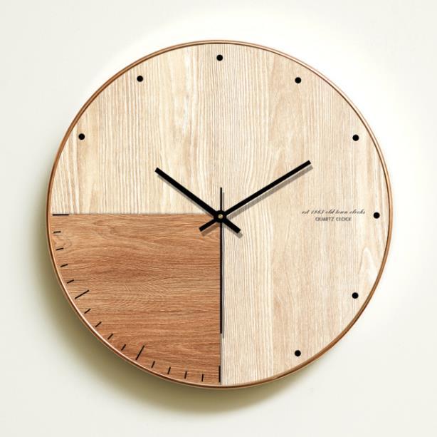 [해외]큰 벽시계 현대적인 디자인 침묵의 거실 나무 벽 시계 패션 침묵 벽시계 가정 장식 relojes 드 pared/large wall clock modern design silent living room Wooden wall clock fashion silent w