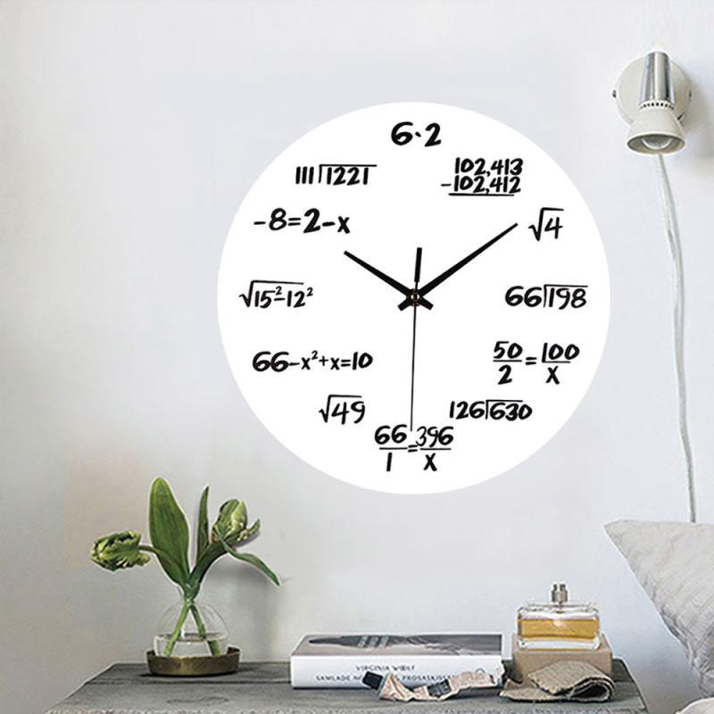 [해외]아크릴 홈 인테리어 침묵 수학 방정식 공예품 디지털 벽시계 야외 활동을하기에 편리합니다./Acrylic Home Decoration Silent Math Equations Polytechnic Digital Wall Clock Convenient for carr