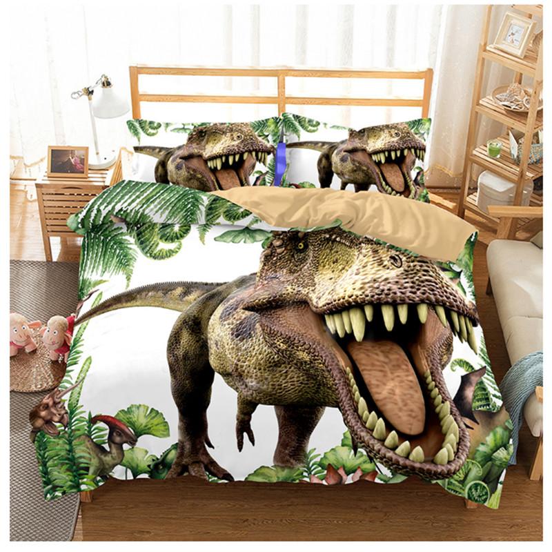 [해외]쥬라기 공원 공룡 침대 세트 소년 침구 아동 침구 린넨 세트 3D 침대 이불 커버 세트 미국 트윈 십대 침구 세트/Jurassic Park Dinosaur Bed Set Boys Bedclothes Childrens Bedding Linen Set 3D Bed