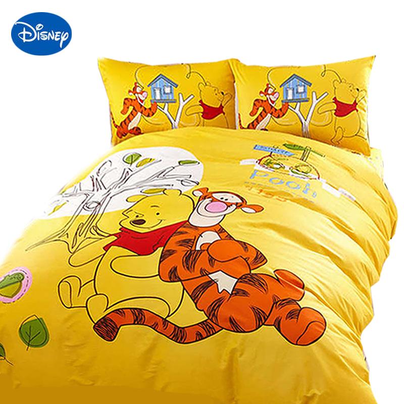 [해외]위니 푸우 침구 ??싱글 트윈 여왕 킹 사이즈 이불 커버 세트 파란색 노란색 만화 점 침대보 소녀 소년 디즈니 홈 인테리어/Winnie the Pooh bedding single twin queen king size quilt cover set blue yell