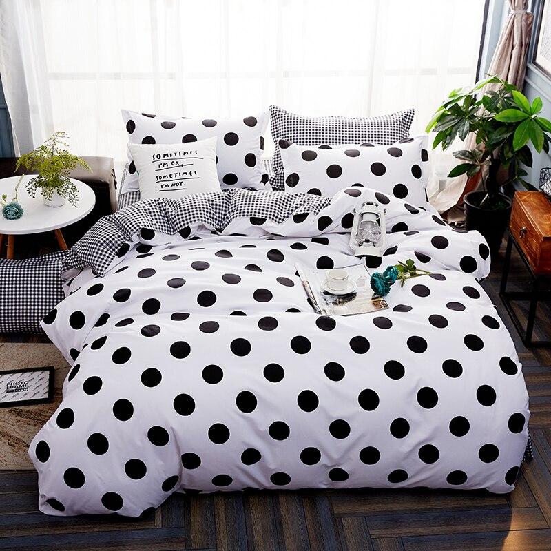 [해외]스타일 스타일 침구 세트 트윈 풀 퀸 사이즈 킹 슈퍼 웨이브 포인트 디자인 듀벳 커버 플랫 시트 베개 커버 퀼트 싱글/Ins Style Bedding Set Twin Full Queen size King Super Wave Point Design Duvet Co