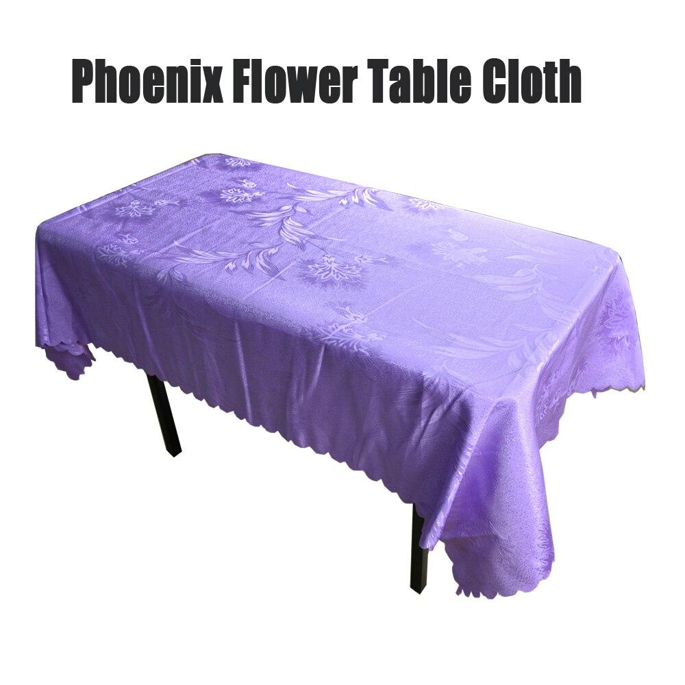[해외]웨딩 파티 장식, 레스토랑 폴리 에스터 광장 식탁보에 대 한 1PC 보라색 Crocheted 피닉스 꽃 직사각형 호텔 테이블 천으로/1PC Purple Crocheted Phoenix Flower Rectangle Hotel Table Cloth For Wedd