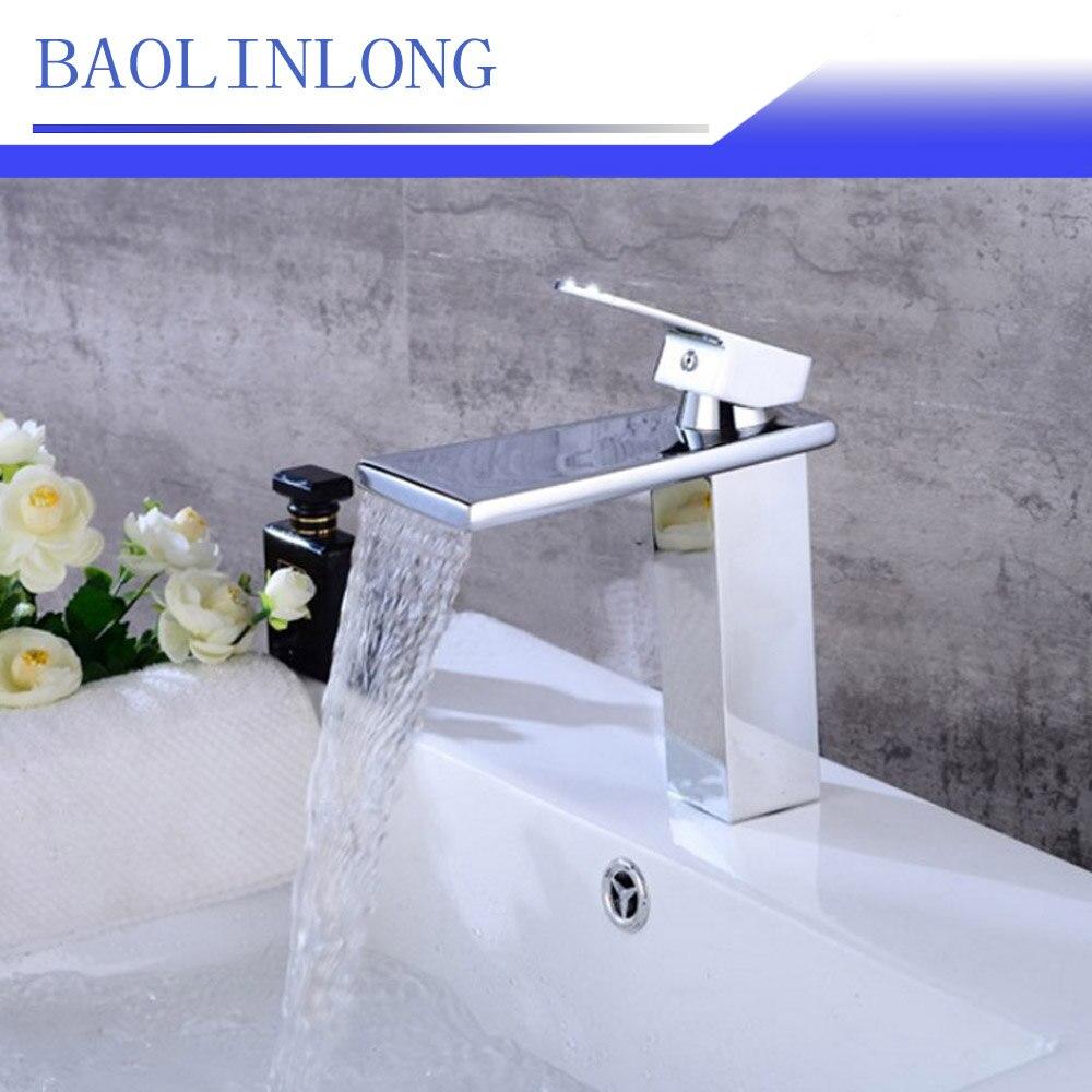 [해외]BAOLINLONG 황동 갑판 마운트 욕실 수도꼭지 허영선 싱크 믹서 폭포 수도꼭지 분지 탭/BAOLINLONG Brass Deck Mount Bathroom Faucets Vanity Vessel Sinks Mixer Waterfall Faucet Basin