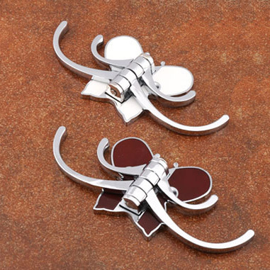 Robe Hooks Gsfy Wholesale Set Folding Butterfly Handbag Purse Metal Rhinestone Hook Hanger Holder 2.2x1.7