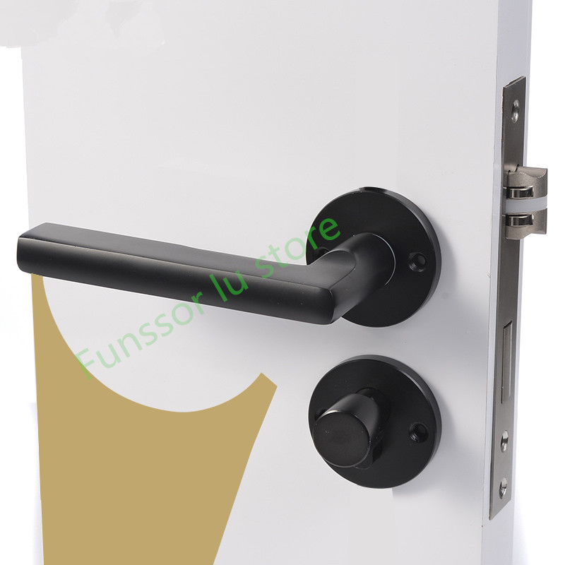 [해외]너무 아름답고, 검은 공간 알루미늄 도어 핸들 인테리어 / 침실 도어 잠금 분할 침묵 문 잠금 장치, 도어 하드웨어/So beautiful,Black space aluminum door handle Interior / Bedroom door lock Split