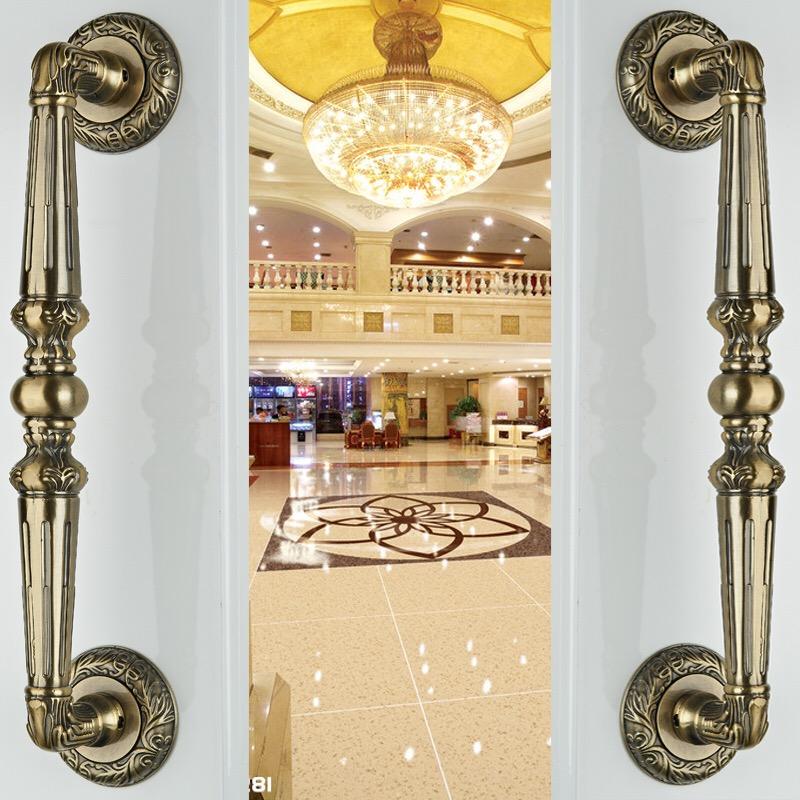 [해외] KTV 청동 손잡이 유럽의 궁전 나무로되는 문 손잡이 새로운 유리 문 당김 빌라 문 손잡이 인공 문 손잡이/Free shipping KTV bronze handle European palace wooden door handle New glass door pul