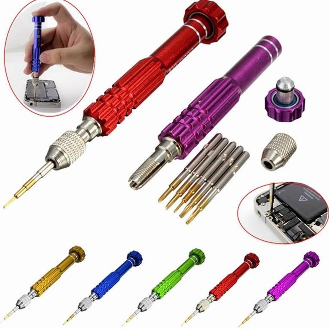[해외]1 5 다기능 수리 도구에 스크류 드라이버 아이폰 핸드폰 작은 도구 색상 무작위로 설정/5 in 1 Multifunction Repair Tools Screwdriver Set For iphone Cellphone Small Tools  Color Random
