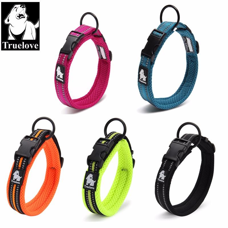 [해외]Truelove 조정 가능한 나일론 개 목걸이 애완 동물을개 훈련을옥외 편안한 견 목걸이를메쉬 패딩 3M 사려 깊은 고리/Truelove Adjustable Nylon Dog Collars Mesh Padded 3M Reflective Collar For Dog
