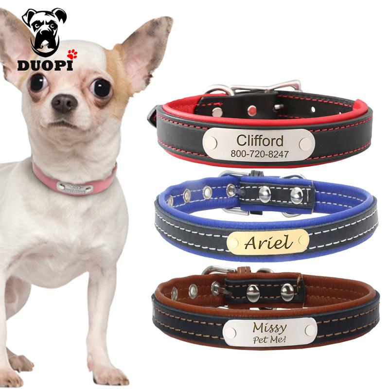 [해외]맞춤 새겨진 개 목걸이 맞춤 가죽 강아지 고양이 애완견 CollarsName 접시 중소견을전화 ID 태그/Personalized Engraved Dog Collar Custom Leather Puppy Cat Pet CollarsName Plate Phone I