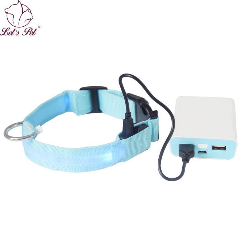 [해외]개 애완 동물 고양이 개 목걸이에 대 한 LED 충전식 목걸이 LED 충전식 코리아 페로, 콜리어 Pour Chien 크기 S-XL 깜박이 주도/LED Chargeable Collar For Dog Pet Cat Dog Collars Led Flashing US
