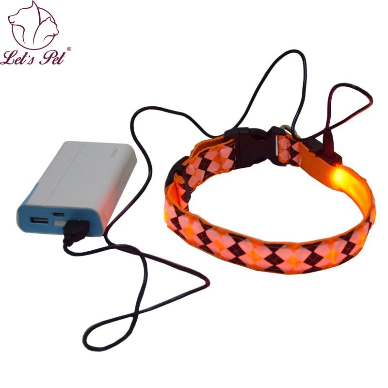 [해외]애완 동물 칼라 충전식 강아지 칼라 USB 나일론 LED 라이트 방수 야간 애완 동물 안전 칼라 깜박 고양이 개 목걸이 이름/Pet collar rechargeable dog collar USB Nylon LED Light Waterproof Night pet