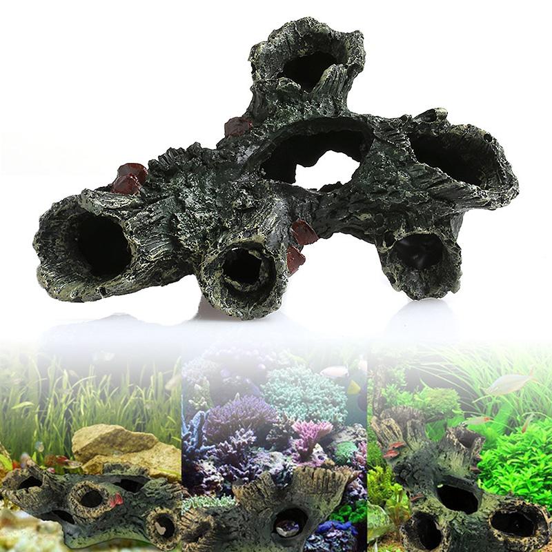 [해외]수지 나무 드리프트 나무 트렁크 수족관 장식 루트 물고기 탱크 장식