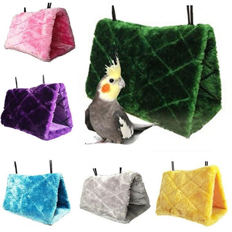 [해외]플러시 버드 교수형 동굴 케이지 Snuggle 해피 헛 텐트 침대 이층 장난감 앵무새 해먹/Plush Bird Hanging Cave Cage Snuggle Happy Hut Tent Bed Bunk Toy Parrot Hammock