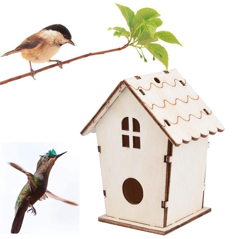 [해외]1PC 새로운 DIY 목재 방부제 야외 조류 장식 새 집 목조 조류 케이지 장난감 교수형 장식/1PC New DIY Wood preservative outdoor birds decoration bird house wooden bird cage toy Hangin
