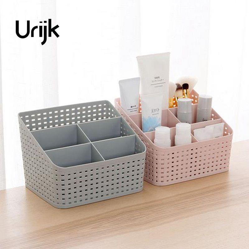 [해외]Urijk 메이크업 Organiser 스토리지 박스 데스크 오피스 주최자 화장품 스킨 케어 플라스틱 스토리지 서랍 보석 상자 핑/Urijk Makeup Organizer Storage Box Desk Office Organizer Cosmetics Skin Ca
