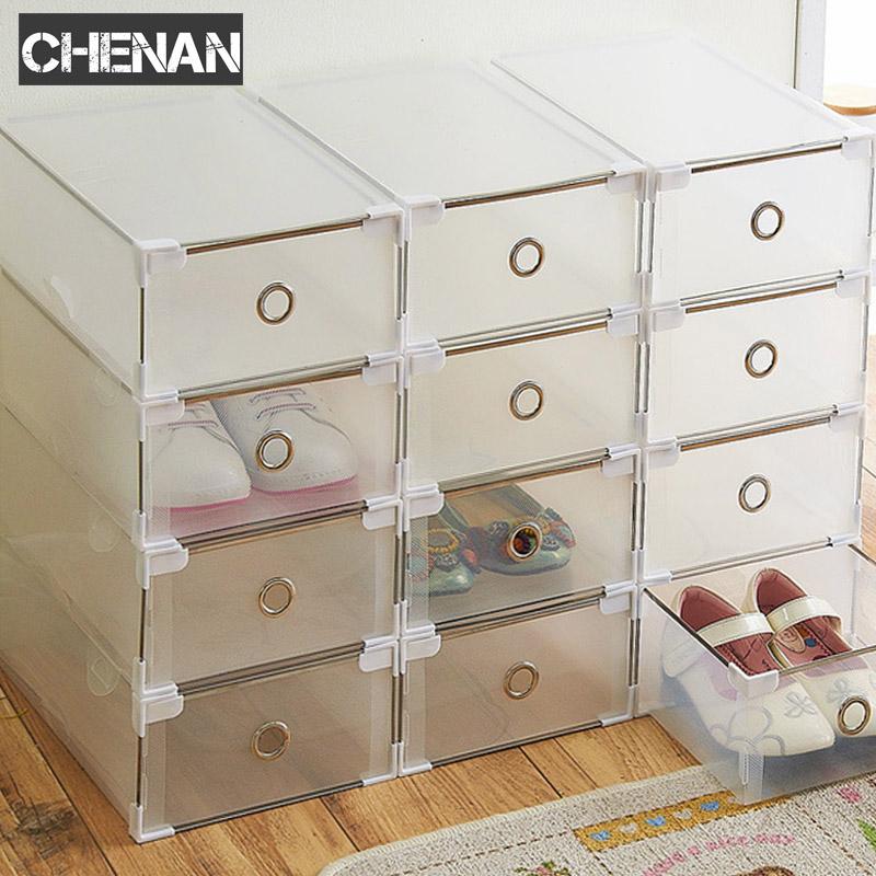 [해외]5PCS Eco-Friendly 단화 상자 상자 투명한 플라스틱 저장 상자 직사각형 PP 단화 주최자 두꺼운 서랍 단화 상자/5PCS Eco-Friendly Shoe Storage Box Case Transparent Plastic Storage Box Rect