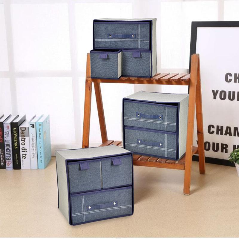 [해외]1pc 내구성 Foldable 가정용 휴대용 상자 주최자 편지지 메이크업 속옷 패션에 대 한 데스크탑 스토리지 박스/1pc Durable Foldable Household Portable Box Organizer Desktop Storage Box For Sta