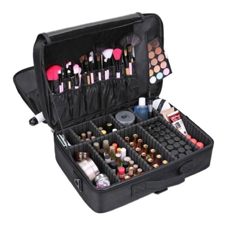 [해외]?여자의 패션 화장품 가방 화장품 상자 빈 메이크업 Organiser Bolso 아름다움 화장품 케이스 스토리지 박스 & amp; 방식/ Women&s Fashion Cosmetic Bag  Cosmetic Box Empty Makeup Organizer