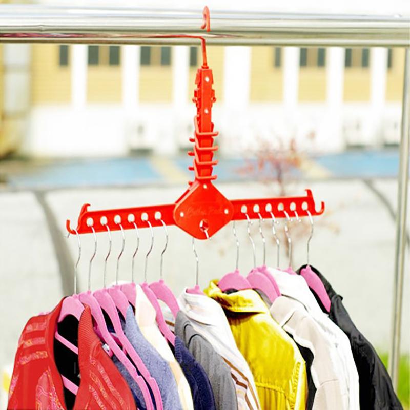 [해외]?플라스틱 옷장 선반 다기능 매직 걸이 건조 랙/ Plastic Clothes Storage Racks Multifunctional Magic  Hanger Drying Racks