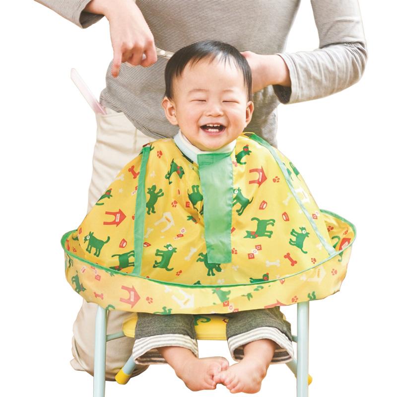 [해외]일본인 아이가 이완 머리 이발사 아기 의류 머리 가발 앞치마 이발사 가위 천을/Japanese children hairdressing cloak child haircut kids baby clothing hair apron barber hair scissors