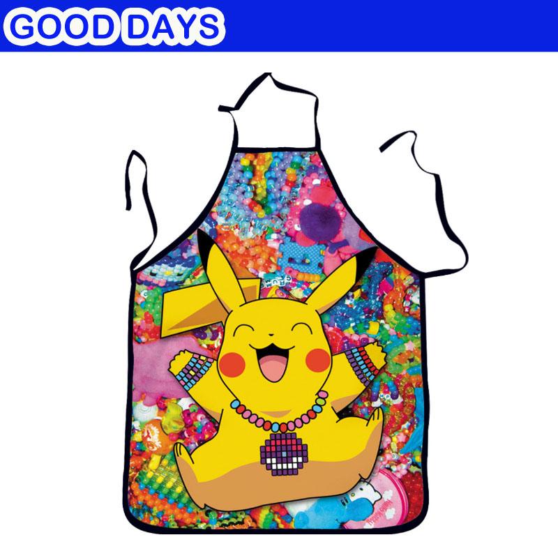 [해외]피카추 컷 바베큐 바베큐 앞치마 주방 여자 남성 웃긴 창의력 폴리 에스테르 앞치마/Pikachu Cut Barbecue BBQ Apron Kitchen Woman Men Funny Creativity Polyester Apron