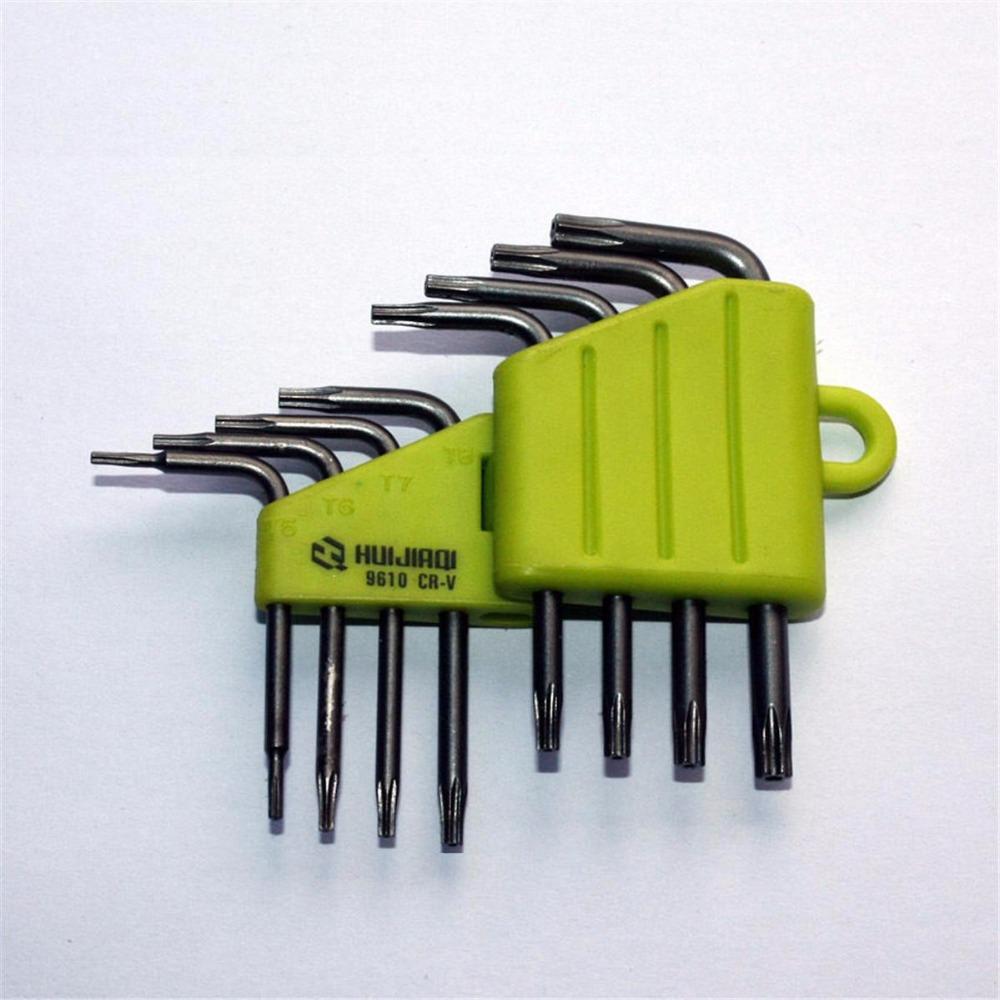 [해외]8pc / Set CRV CR-V 스크루 드라이버 스크류 드라이버 소켓 툴 세트 T5 T6 T7 T8 T9 T10 T15 T20 스타 수리 렌치 키트 9610/8pc /Set CRV CR-V Screwdriver Screw drivers Socket Tool S