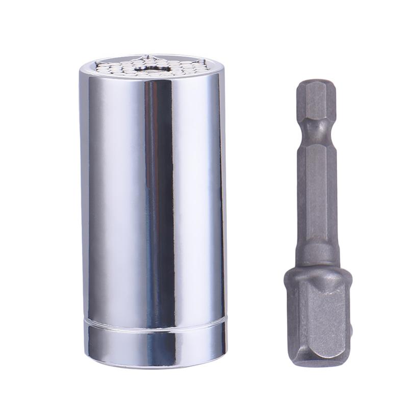 [해외]크롬 바나듐 스틸 7-19 밀리미터 파워 드릴 어댑터 세트 소켓 렌치 핸드 헬드 키트 유니버셜 소켓 어댑터 도구/Chrome-vanadium Steel 7-19mm Power Drill Adapter Set Socket Wrench Handgereedschap