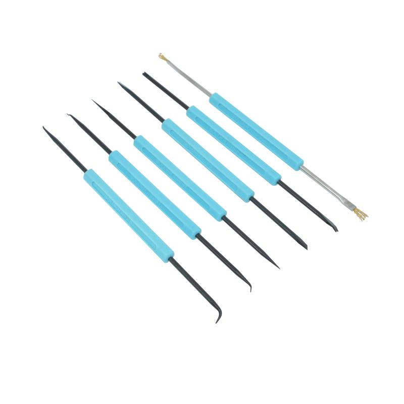 [해외]솔더 도움 정밀 전자 부품 용접 그라인딩 청소 수리 도구 키트 조립 작업 6pcs / set/Solder Assist Precision Electronic Components Welding Grinding Cleaning Repair Tool Kit Assemb