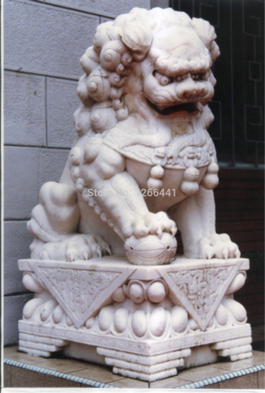 [해외]어 돌 사자 조각 어 프로텍터 사자 동상/Chinese stone Lion sculpture Chinese guardian lions statues