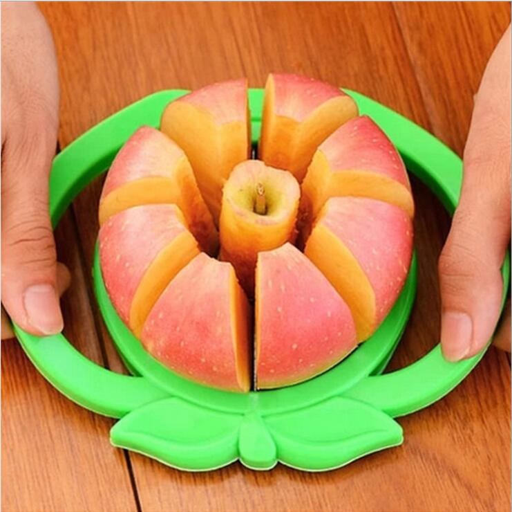 [해외]주방 Apple Slicer Corer 커터 배 과일 분배기 도구 Comfort Handle for Kitchen Apple Peeler 액세서리 가제트 쵸퍼/Kitchen Apple Slicer Corer Cutter Pear Fruit Divider Tool
