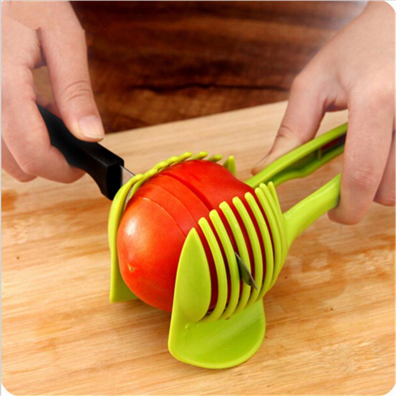 [해외]야채 슬라이서 양파 토마토 절단 보조 가이드 홀더 슬라이싱 커터 가제트 토마토 양파 감자 레몬 홀더 슬라이서 보조 도구/Vegetable Slicer Onion Tomato Cutting Aid Guide Holder Slicing Cutter Gadget To