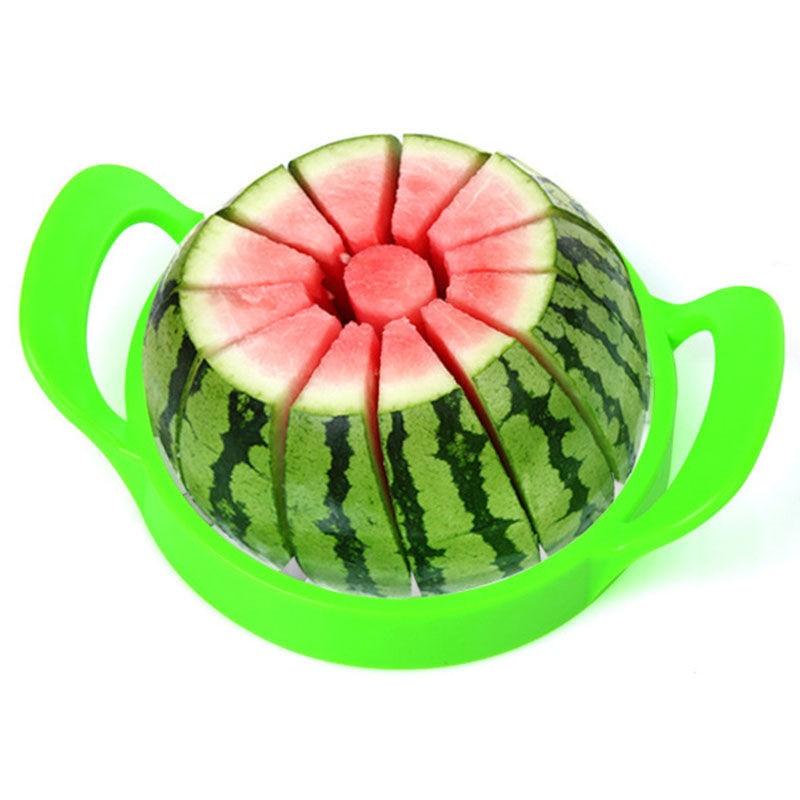 [해외]21cm 스테인레스 스틸 멜론 수박 멜론 슬라이서 커터 과일 슬라이서 도구 주방 가제 액세서리/21cm Stainless Steel Melon Watermelon Cantaloupe Slicer Cutter Fruit Slicer Tool for kitchen