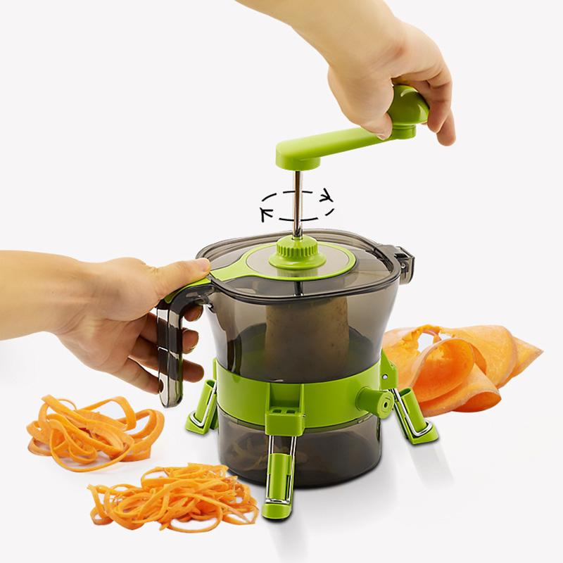 [해외]다목적 과일 야채 슬라이서 슈레더 커터 나선형 대패 질 코 일러 쵸퍼 주방 악세사리 요리 도구 가제트/Multi-Purpose Fruits Vegetables Slicer Shredder Cutter Spiral Planer Coiler Chopper Kitch