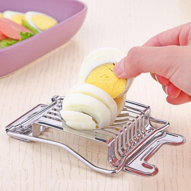 [해외]Higger 부엌 부속품 스테인리스 삶은 계란 슬라이서 단면 절단기 버섯 토마토 커터 부엌 공구/Higger Kitchen Accessories Stainless Steel Boiled Egg Slicer Section Cutter Mushroom Tomato