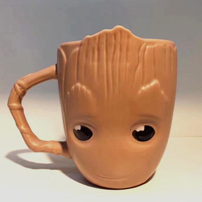 [해외]새로운 디자인 아침 우유 커피 머그잔, 갤럭시 화환의 베이비 워터 컵 귀여운 아침 식사 컵 머그잔 귀여운 선물/New design Breakfast milk coffee mug,Guardians of The Galaxy Flowerpot Baby Water Cu