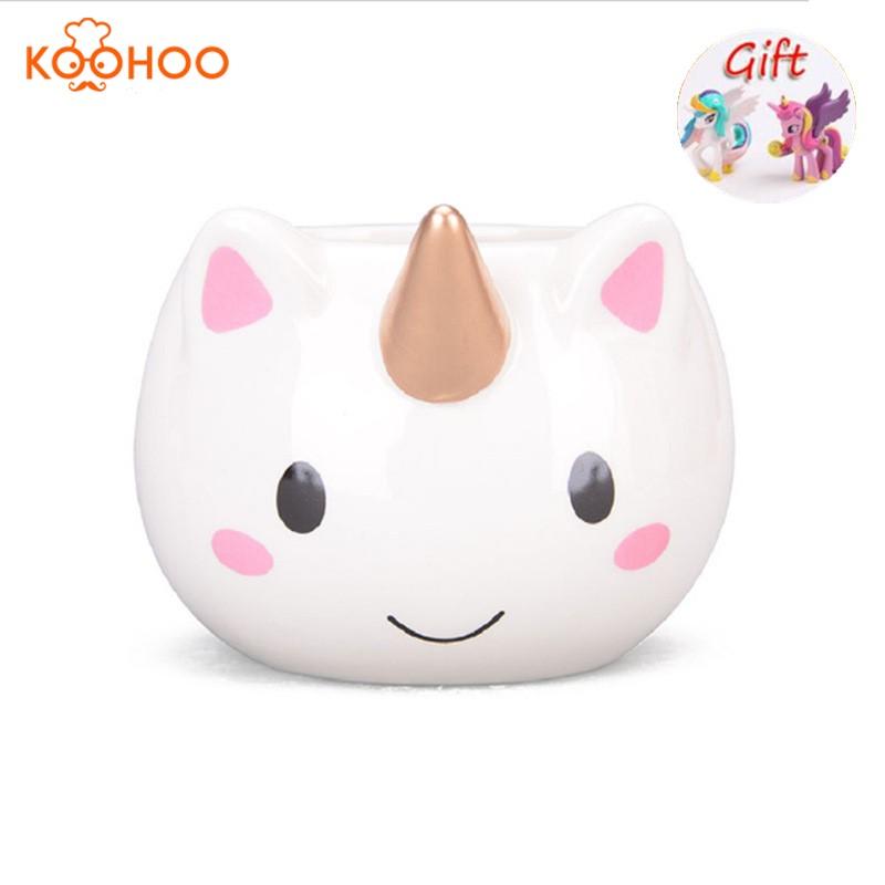[해외]Koohoo 3D 유니콘 머그잔 세라믹 커피 컵 어린이 소녀 소년 귀여운 크리 에이 티브 손 고통의 낯짝 선물 컬러 350 ML 만화 유니콘 머그컵/Koohoo 3D Unicorn Mug Ceramic Coffee Cup Children Girl Boy Cute