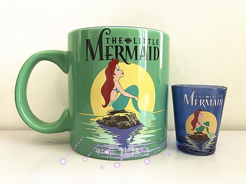 [해외]인어 만화 아리엘 공주 도자기 세라믹 차 커피 머그잔 컵 생일 선물 컬렉션/Cartoon The Little Mermaid Ariel Princess Porcelain Ceramic Tea Coffee Mug Cup Birthday Gift Collection