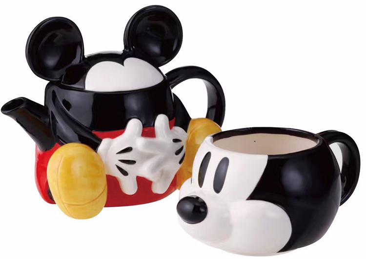 [해외]뉴 래쉬 냄비 [1pot +1 컵] 만화 미키 미니 찻 주전자 찻잔 세트 크리스마스 선물 핫 세일/New Lash pot [1pot +1 cup] Cartoon Mickey  Minnie Teapot  Teacup Mug Set Christmas Gift Hot