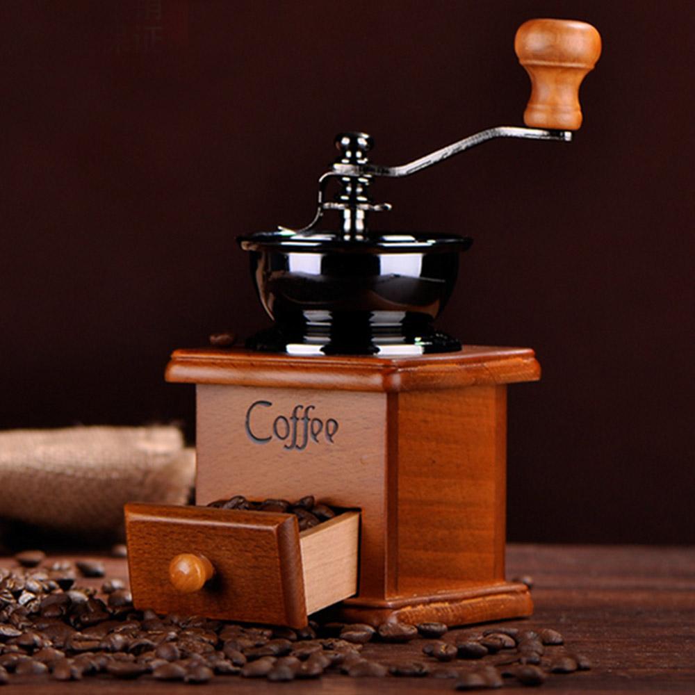 [해외]Behokic Cafetera 커피 분쇄기 나무와 금속 디자인 복고풍 미니 수동 커피 분쇄기 핸드 수제 콩 코니 컬 버/Behokic  Cafetera Coffee Mill Wooden And Metal Design Retro Mini Manual Coffe G